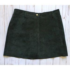 Vintage Hugo Buscati | suede mini skirt | 8